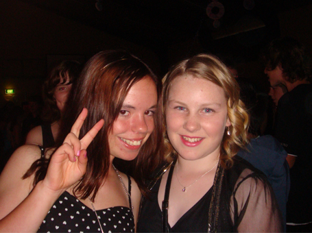 Esha Dickson - This is me with my friend at the year 8 formal! Best night ever! Was sad to leave to go to high school though.