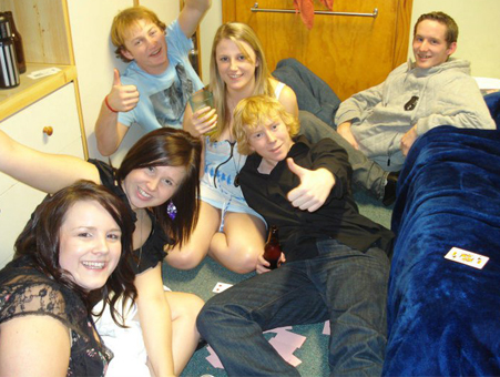 "Tara Stone - Circle of Death + Cruisers for the girls + beer for the boy = A very good night ! Too bad we broke the rule ""Only 5 people drinking in a room"" and all got punishments at the Halls of Residence , But it was worth it !!"