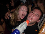 Dom Jessop - when free vodka turns up in the form of a super soaker, get in line