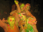 Lisa - Me and my brother getting crazy with our mates, a whole lotta paint and sick beats!!