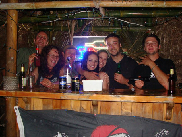 Renee Need - set up for my 18th birthday, Home made dance tent, home made tiki bar. UNFORGETTABLE night considering how much i drank ;)