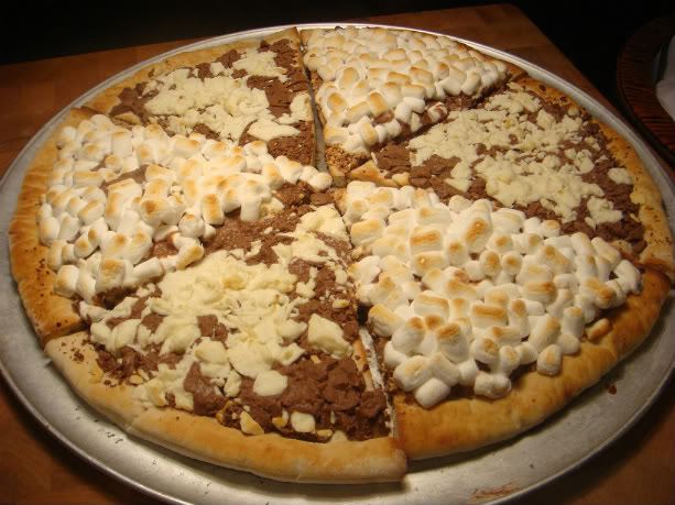 The Chocolate and Marshmallow Pizza