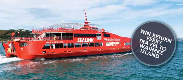 Win return ferry travel to Waiheke Island