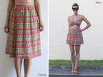 Turn a dowdy skirt into a sweet cutout dress