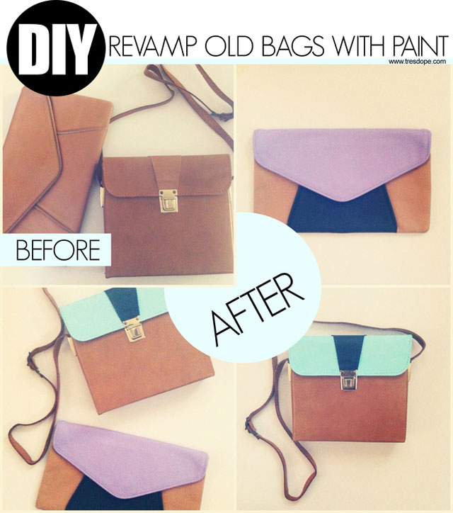 A touch of paint cant make your old bag look like new!