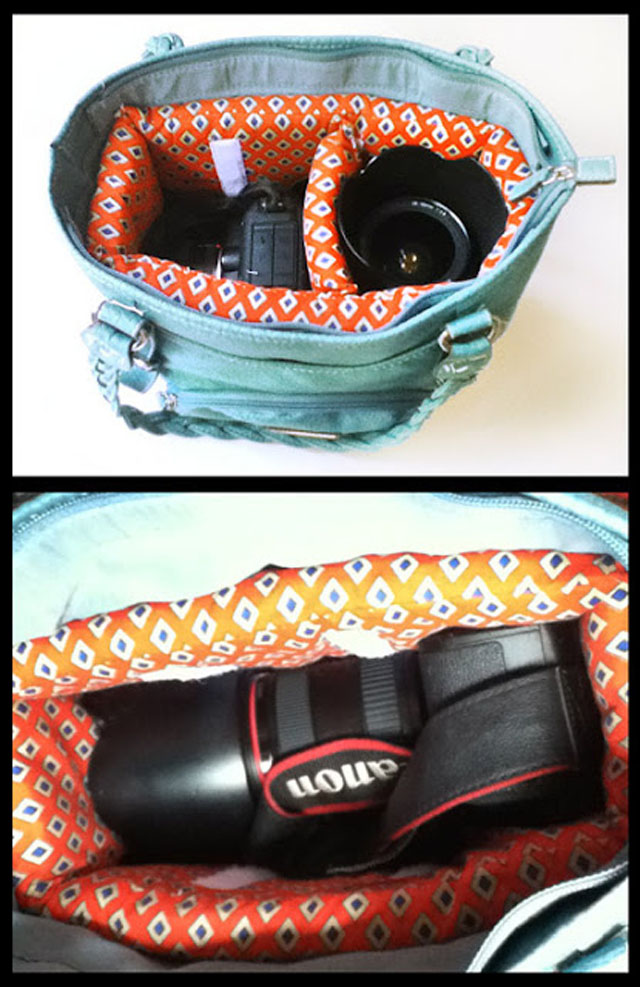 Turn a purse into a camera bag
