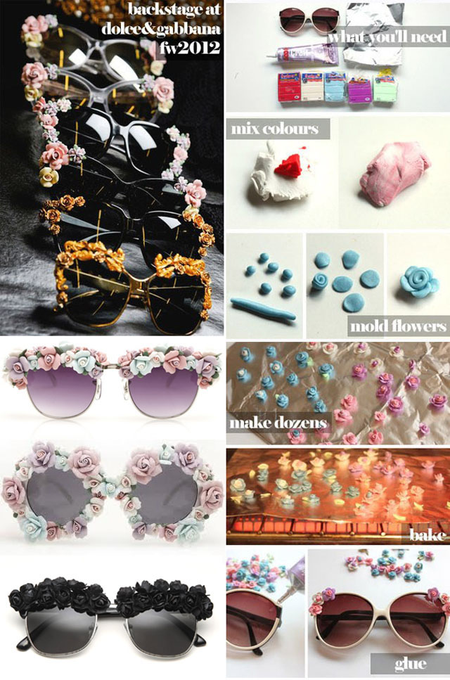 Forget the floral headband and make a pair of floral sunnies!