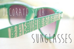Decorate your sunnies with nailpolish and a tooth pick!