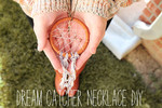 Make a dreamcatcher necklace