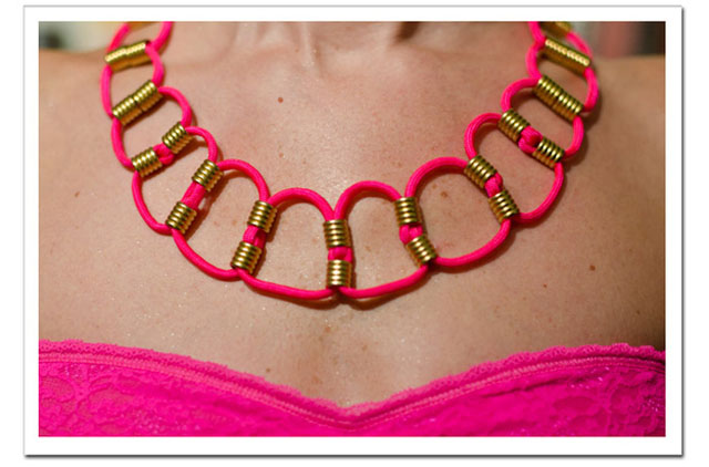 Make a neon paracord necklace!