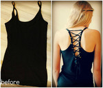 Add grommets to the back of your tank top.
