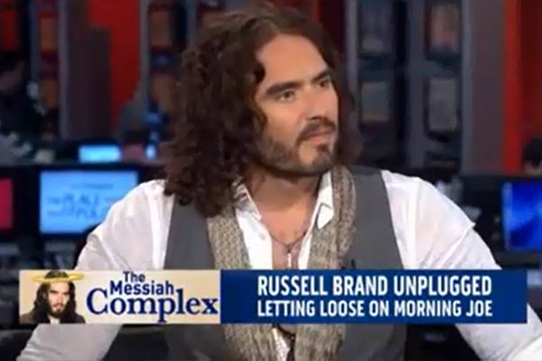 Video: Russell Brand  Humiliates Condescending Morning Joe Hosts