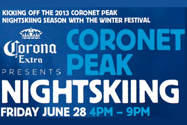 CORONA CORONET PEAK NIGHT SKIING WITH DAN AUX