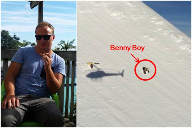 Benny Boy just got rescued from the slopes of Ruapehu (we're not joking)