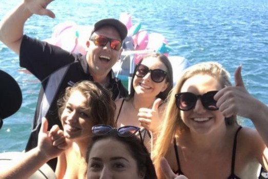 Australian schoolies riding inflatable unicorns rescued from shark-infested waters