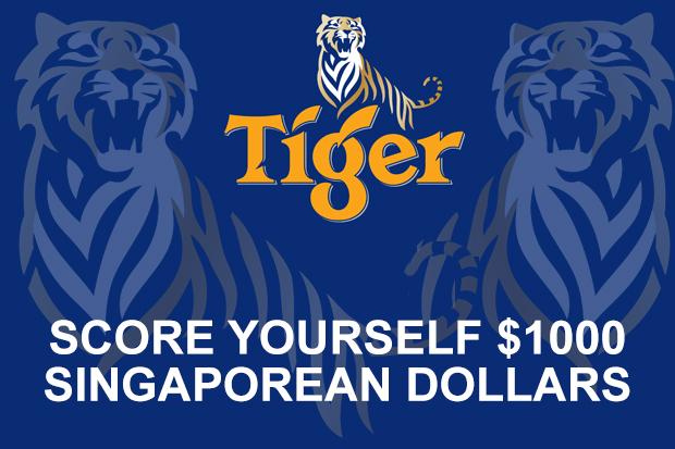 Score $1000 Singaporean dollars thanks to Tiger Beer