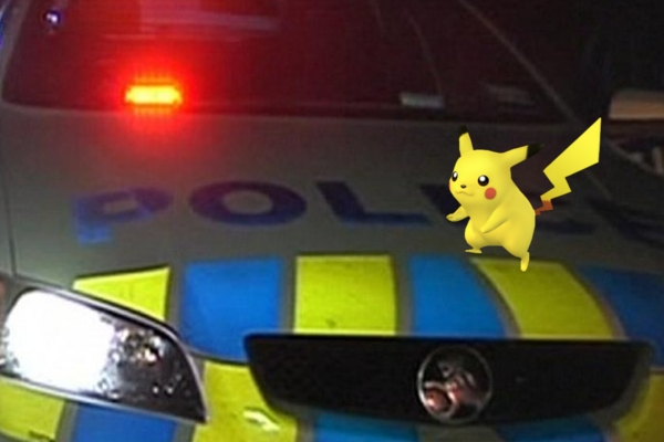 Pokémon Go player drives straight into the back of a police car