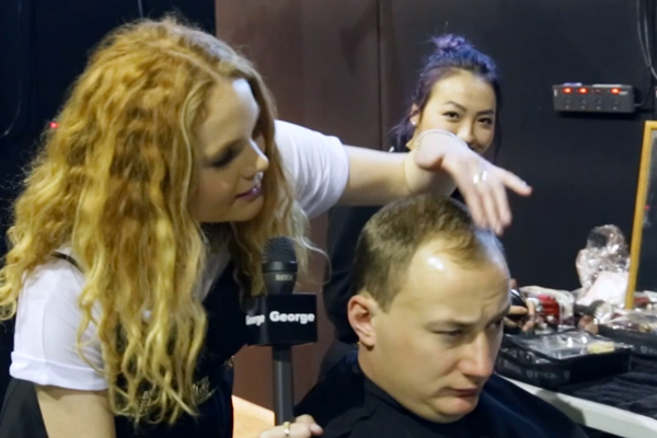 Benny Boy gets a hair and makeup makeover at NZFW