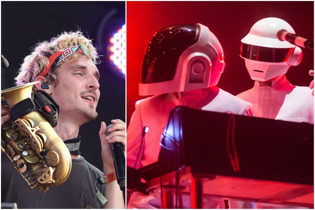 Griz jumps on board Daft Punk Burning Man meme