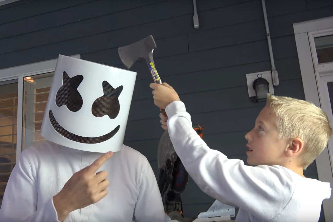 What's inside Marshmello's helmet?