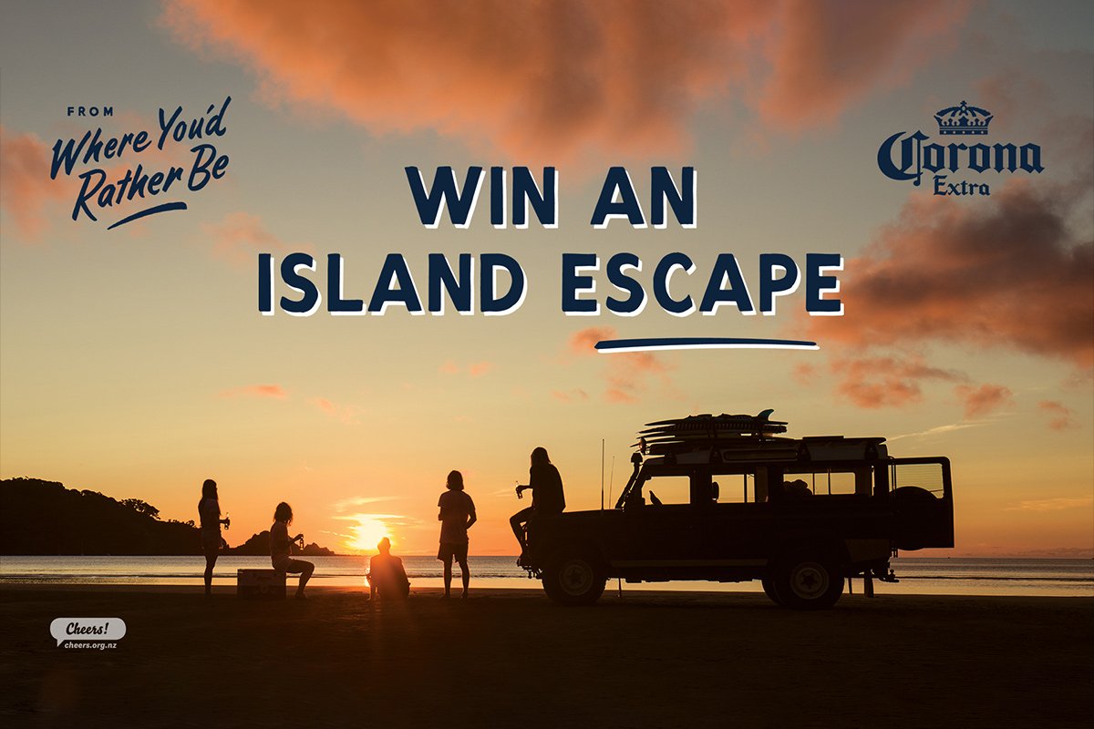 Win an Island Escape for you and 4 mates thanks to Corona!