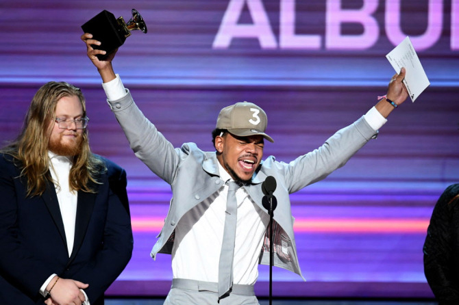 Chance the Rapper makes history as the first unsigned artist to win a Grammy (3 of them!)