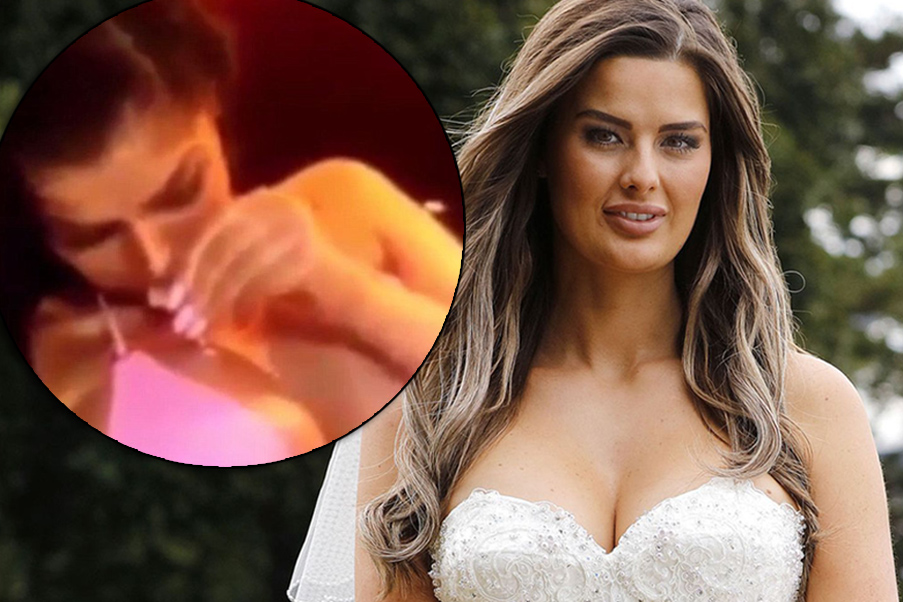 MAFS contestant caught snorting white powder off her own boob